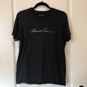 Kenneth Cole M - Black Tee Shirt with Logo